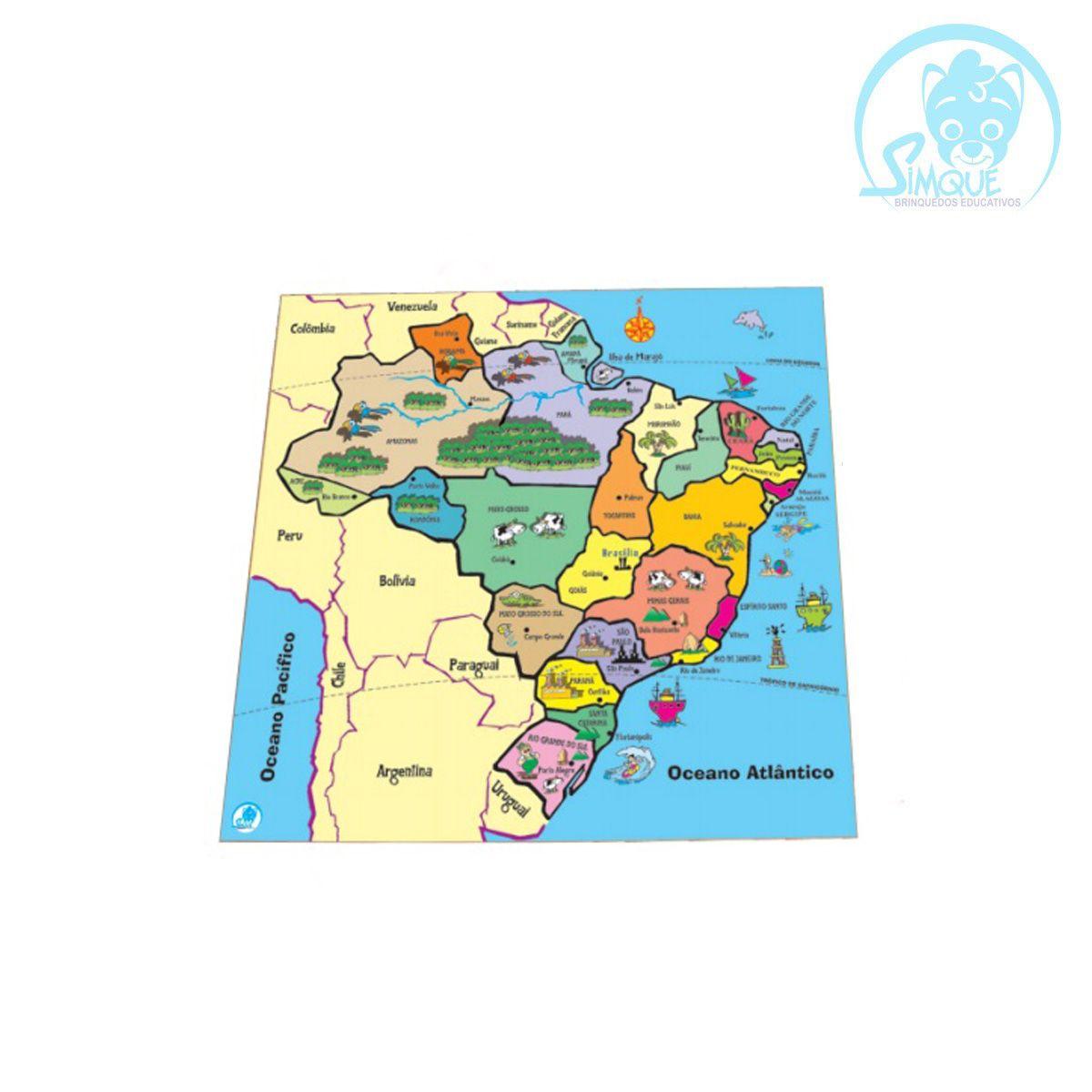 Quebra-Cabeça Mapa - Estados