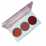 Blush em Creme Nathalia Capelo - Paleta com 03 cores