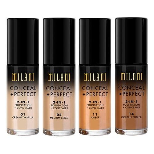 Base Liquida Milani Conceal + Perfect 2 em 1