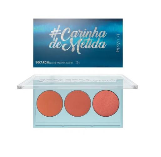 Carinha de Metida - Paleta de blush Boca Rosa By Payot
