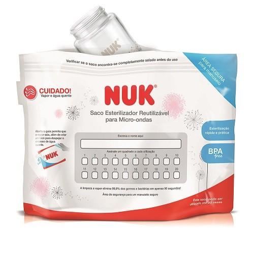 Saco Esterilizador para Microondas Reutilizável c/ 6un - Nuk