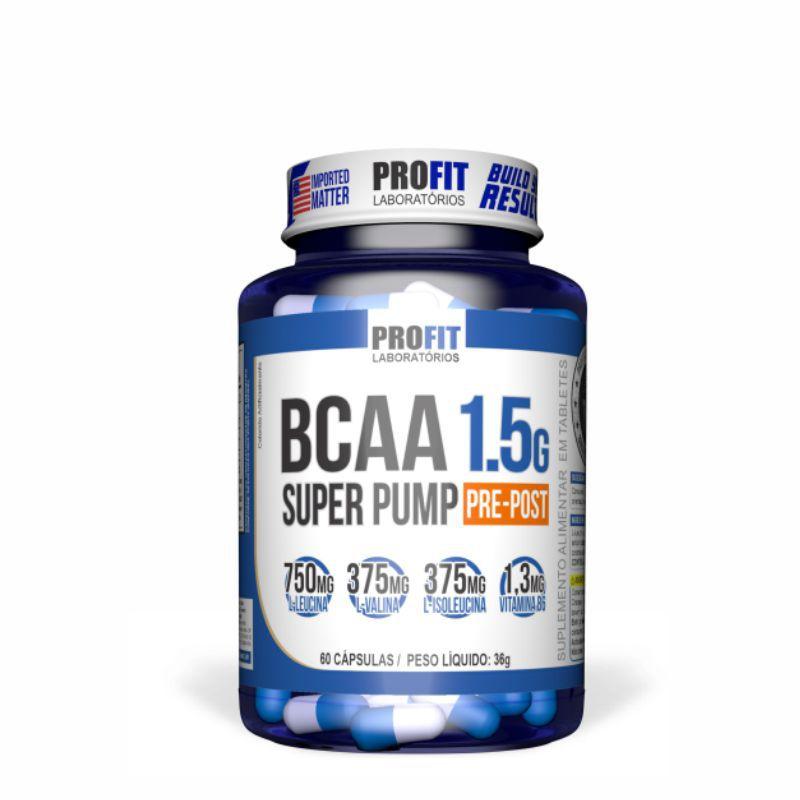 BCAA 1.5g Super Pamp (Cápsulas) Profit Labs