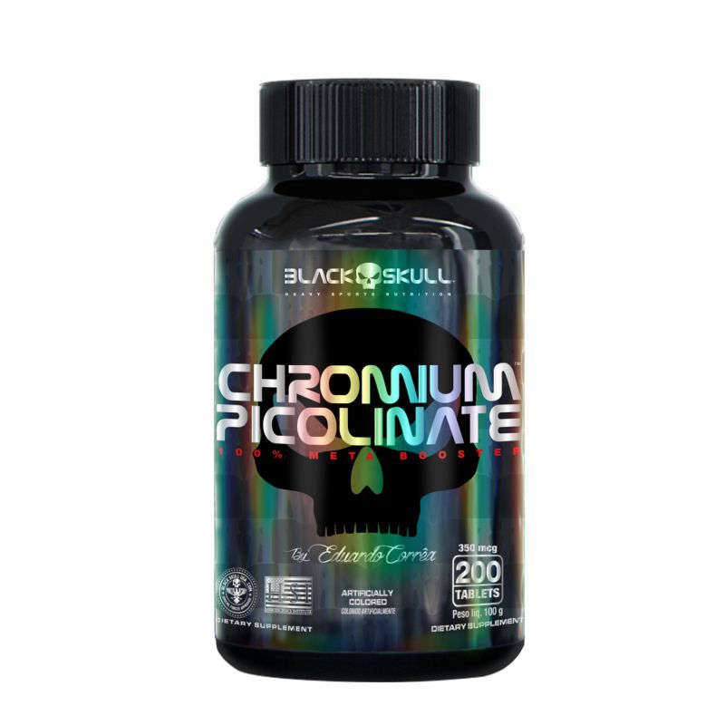 Chromium Picolinate (200 Cápsulas) Black Skull USA™