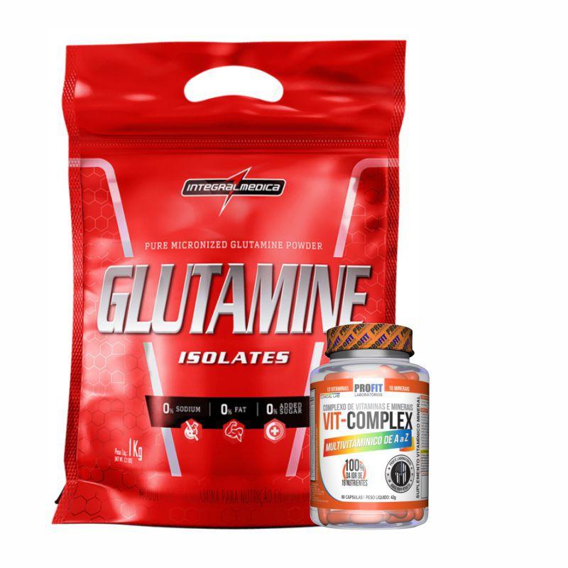 Combo Resistência | Glutamina 1Kg | Multivitamínico 90 Caps