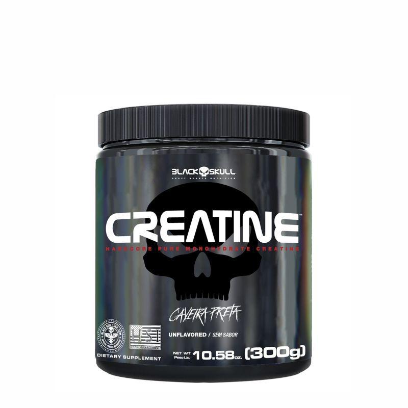 Creatine® Monohidratada (300G) Black Skull USA™