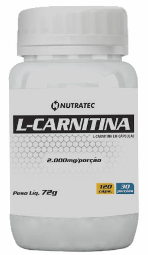 L-CARNITINA 2000MG - 120 CÁPSULAS