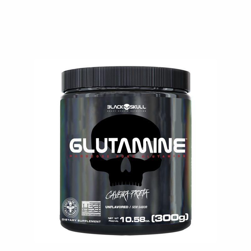 L-Glutamina Caveira Preta (300G) Black Skull USA™