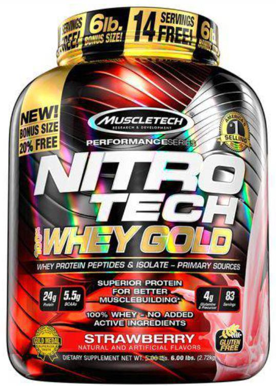 Nitro Tech 100% Whey Gold 2,722kg
