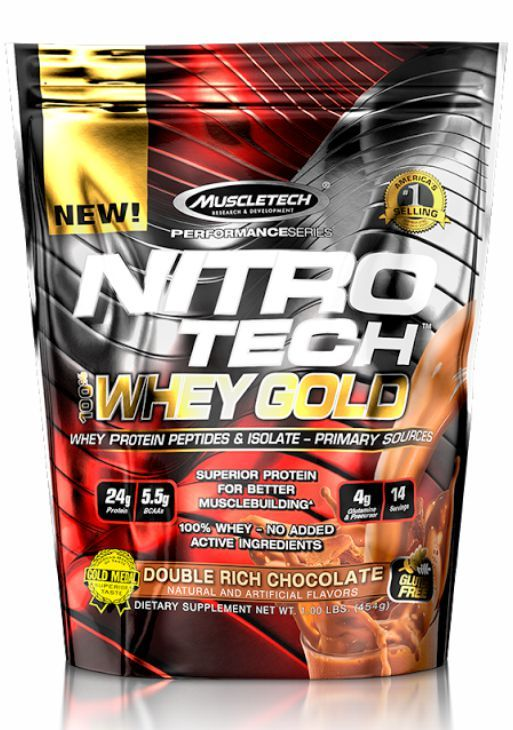 Nitro Tech Whey Gold 454G Refil
