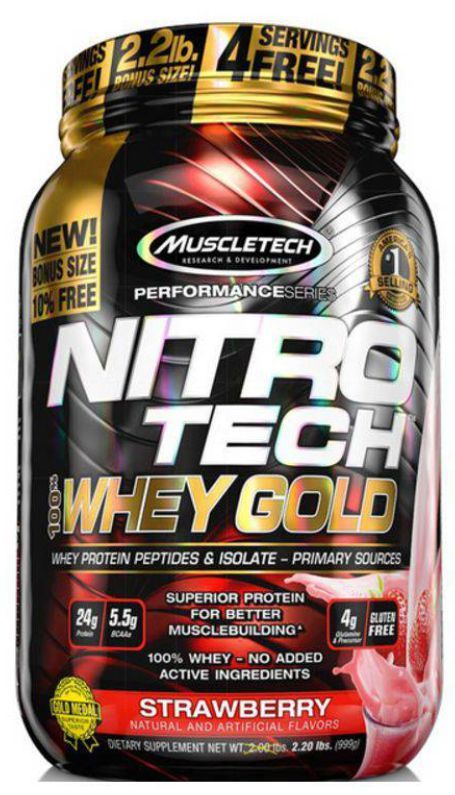 NITROTECH 100% WHEY GOLD - 999G