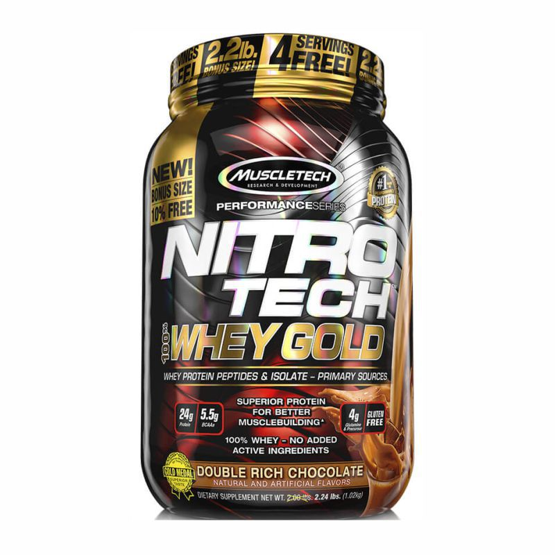 Nitrotech 100% Whey Gold (999g) Muscleteck