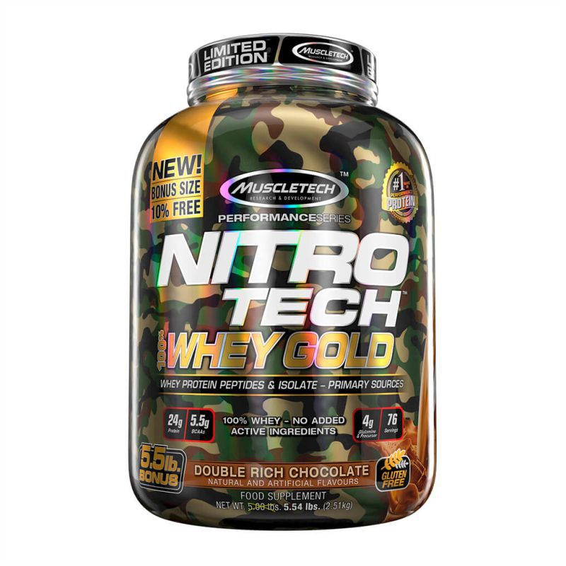 Nitrotech 100% Whey Gold Camo (2,51Kg) Muscleteck