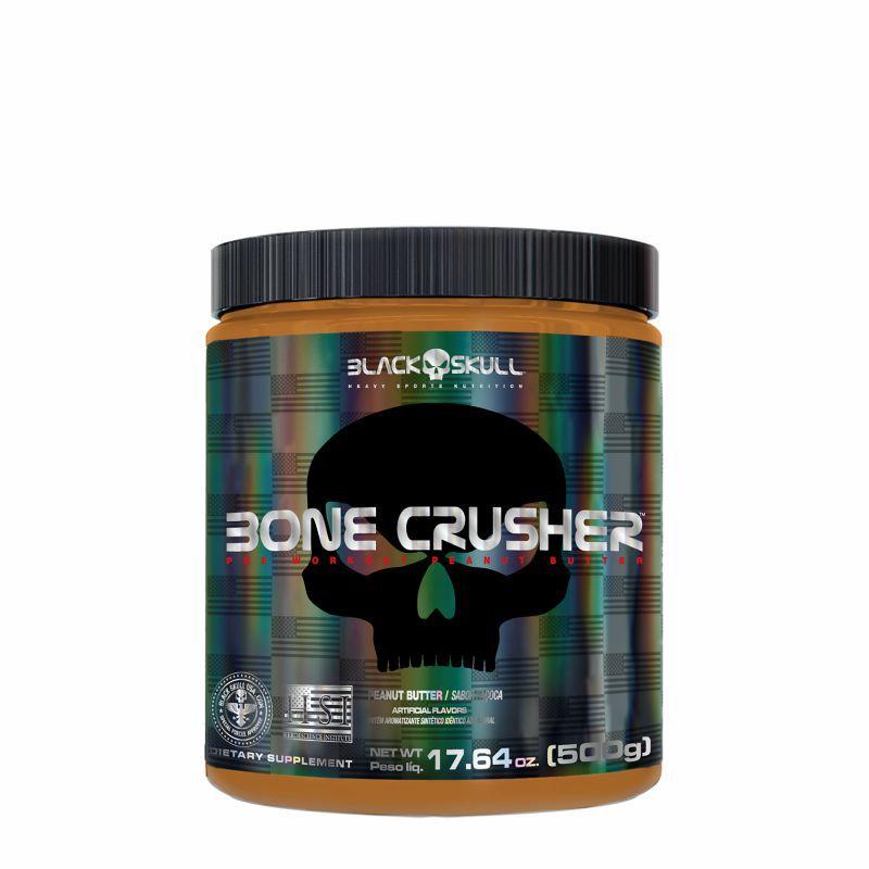 Pré-treino Bone Crusher (500G) Versão Pasta de Amendoim Peanut Butter® Black Skull USA™