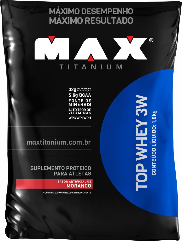 REFIL TOP WHEY 3W ( 1,8 KG ) MAX TITANIUM