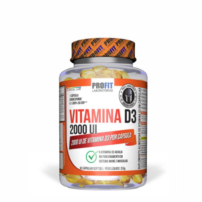 Vitamina D3 (60 Cápsulas) Profit Labs