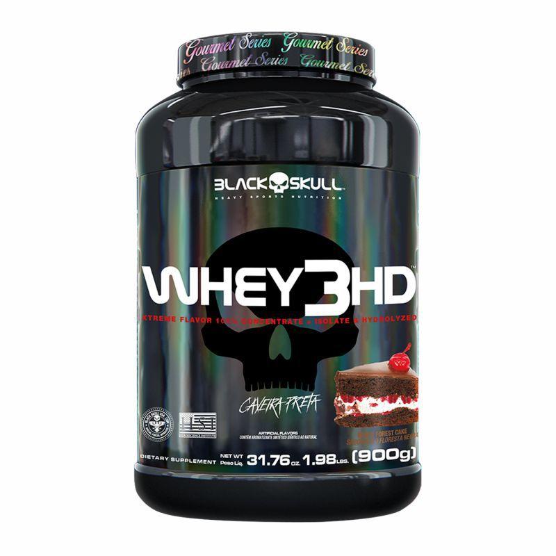 Whey 3 HD Caveira Preta Series® (900G) Black Skull USA™