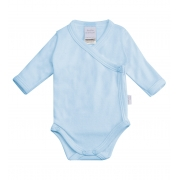 Body Transpassado Azul Bebê (manga longa)