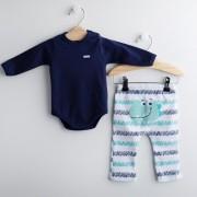Conjunto Body Azul Marinho e Calça FUN