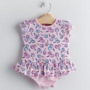 Macacão Curto Rosa Bebê - Linha NUPIE