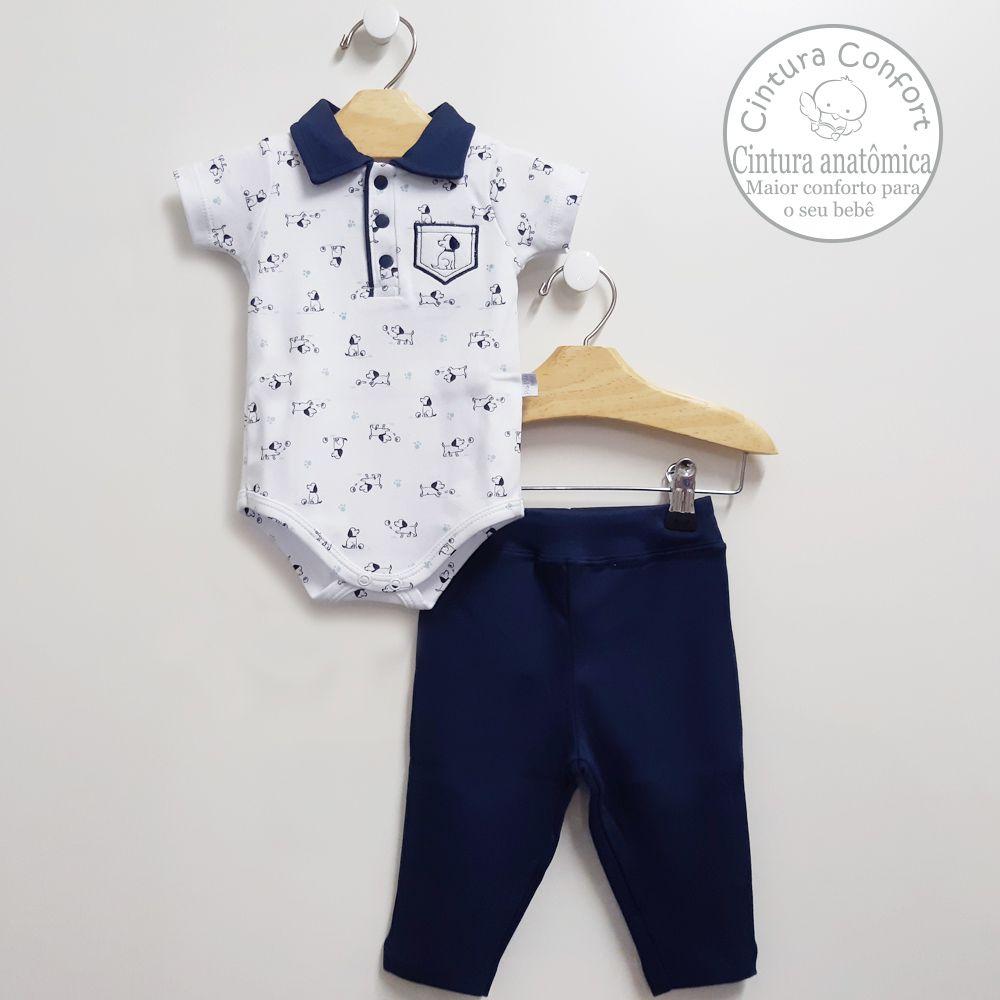 Conjunto Body Polo e Calça (algodão egípcio)