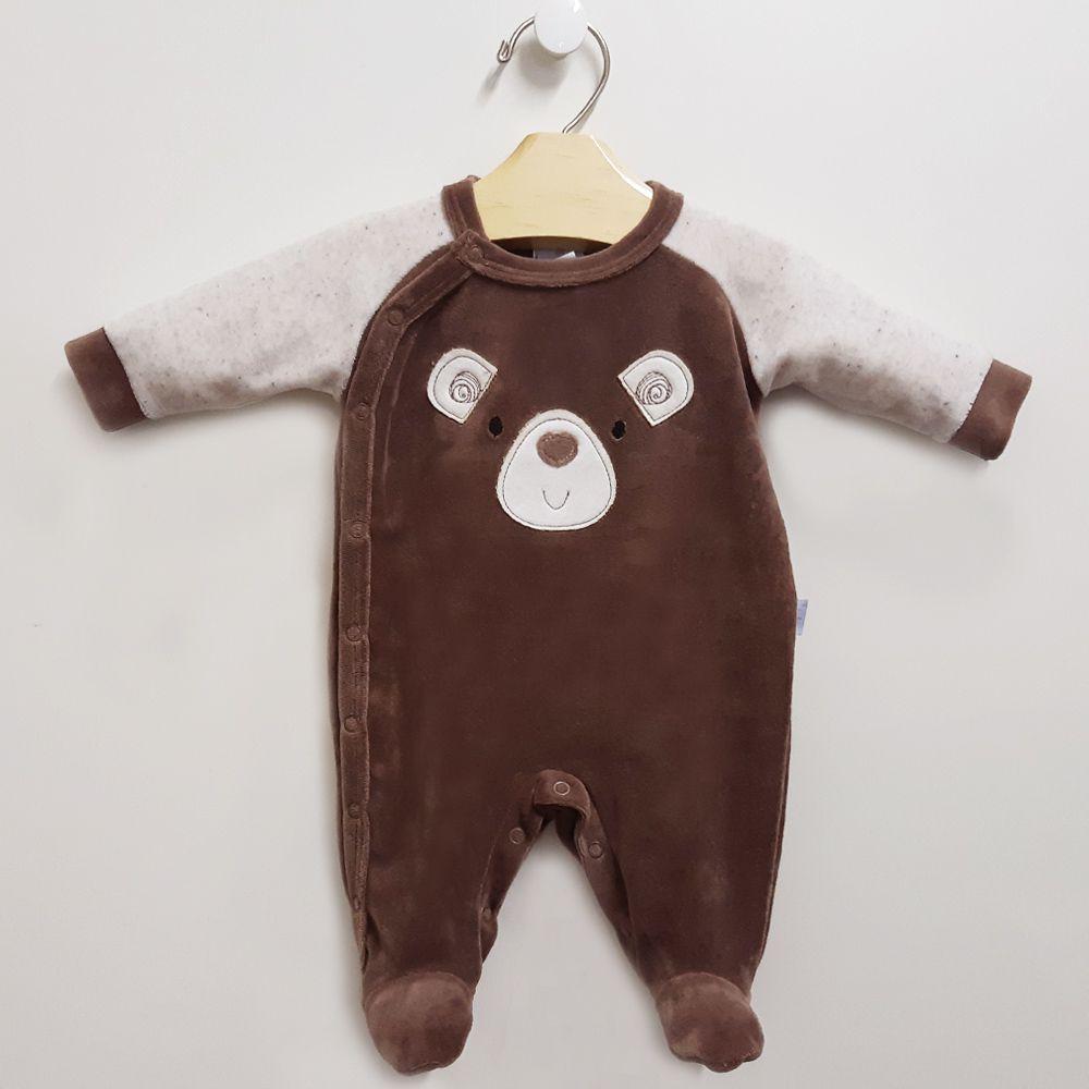 Macacão Longo Plush Urso