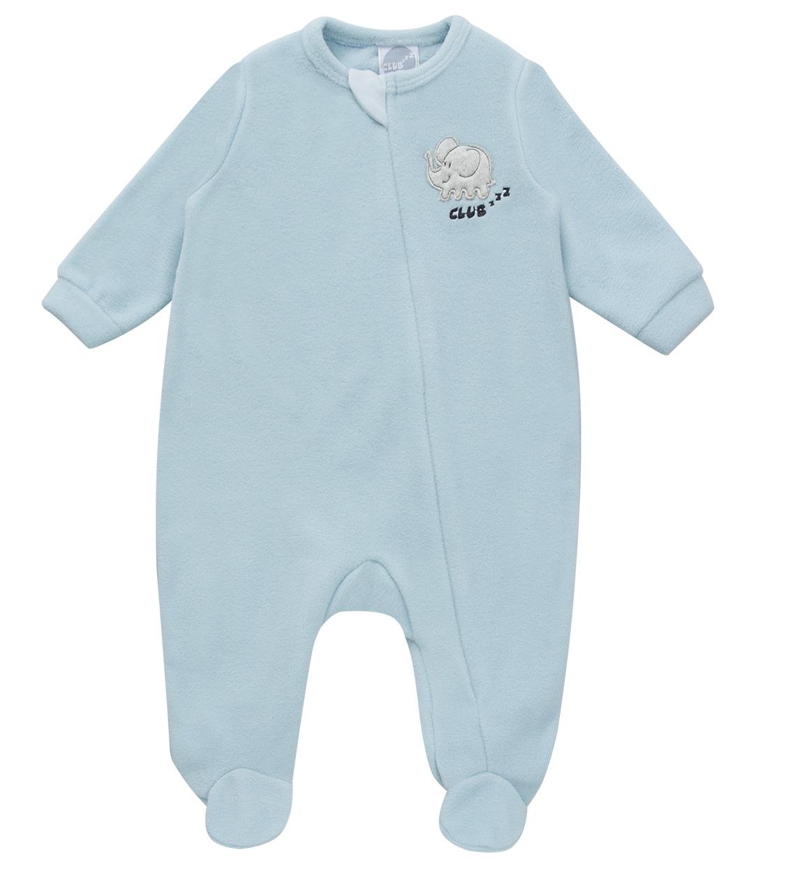 Macacão Pijama Azul Bebê (zíper)