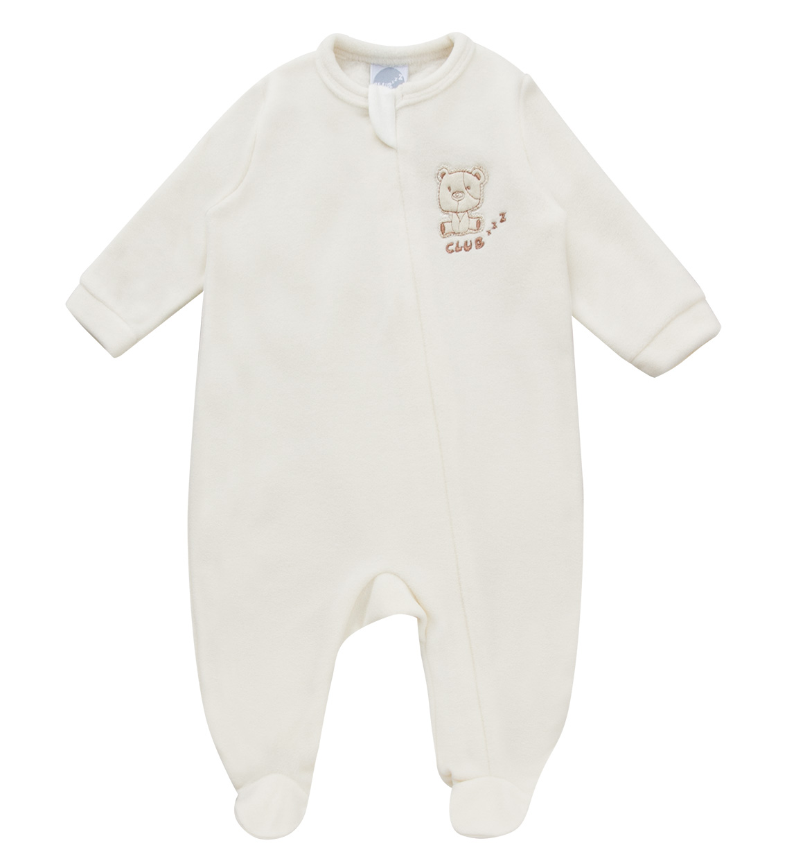 Macacão Pijama Marfim (zíper)