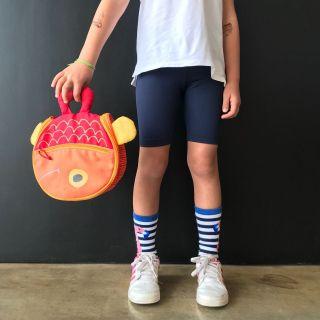 Bermuda Ciclista Infantil Escolar Azul Marinho