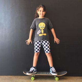 Bermuda Ciclista Infantil Estampada Skate