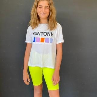 Bermuda Ciclista Infantil Neon Marca Texto Amarelo