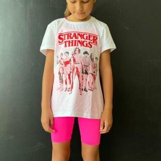Bermuda Ciclista Infantil Neon Marca Texto Rosa
