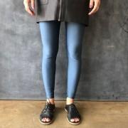 Calça Legging Adulto Básica Brilhante Azul Lunar