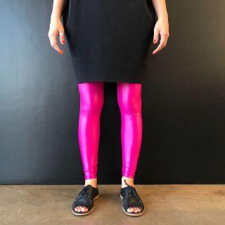 Calça Legging Adulto Básica Brilhante Pink