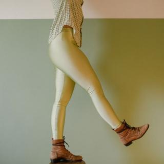 Calça Legging Adulto Básica Brilhante Pistache