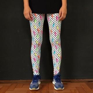 Calça Legging Adulto Básica Estampada Elétrica