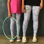 Calça Legging Adulto Básica Estampada Rabisco