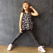 Calça Legging Infantil Brilhante Cinza