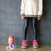 Calça Legging Infantil Brilhante Cirre Black