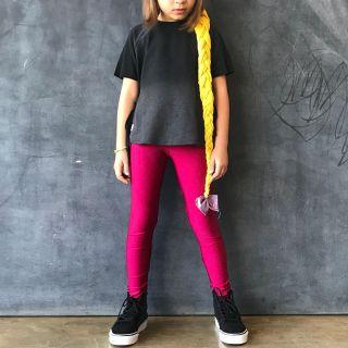 Calça Legging Infantil Brilhante Marsala