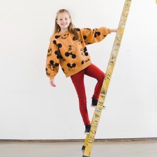 Calça Legging Infantil Brilhante Telha