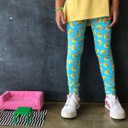 Calça Legging Infantil Estampada Banana
