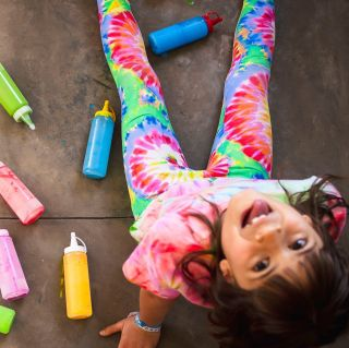 Calça Legging Infantil Estampada Tie Dye