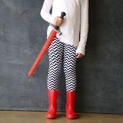 Calça Legging Infantil Estampada Zigzag