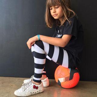 Calça Legging Infantil UV Estampada Listra PB