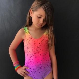 Maiô Infantil Estampado Estrela Neon