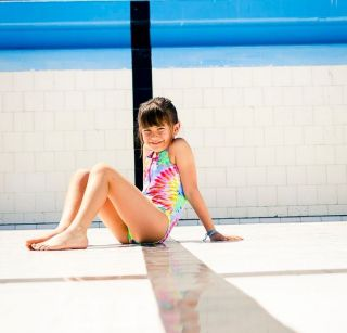 Maiô Surf Infantil Nadador Tie Dye com Zíper