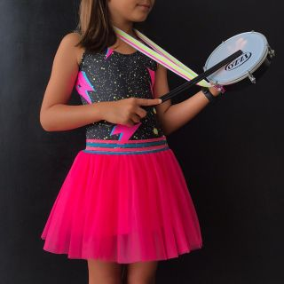 Saia Tule Infantil Pink