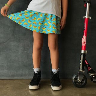 Short Saia Estampado Banana