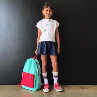 Short Saia Infantil Escolar Azul Marinho