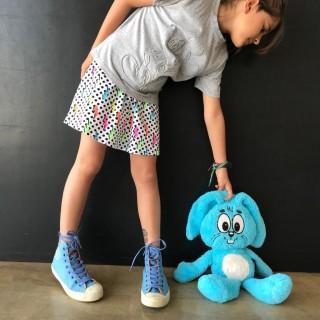Short Saia Infantil Estampado Elétrica